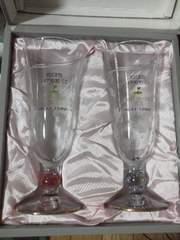 箱入りペアワイングラス(TOYO GLASS)サッポロCC1994記念/ピンク+ブルー