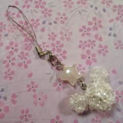 【handmade】ネズミちゃんstrap*white