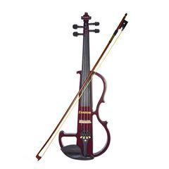 ワインレッドが美しく、おしゃれで知的な楽器 電気ヴァイオリン