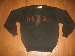 POLO CLUB★★セーター★黒L
