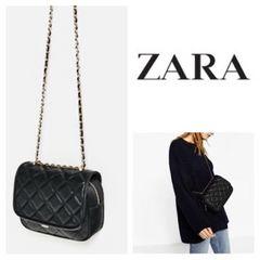 ZARA*キルティングチェーンバッグ*ザラ