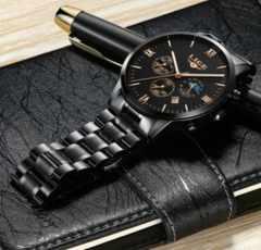 腕時計 ビジネス アナログ表示 MOON PHASE