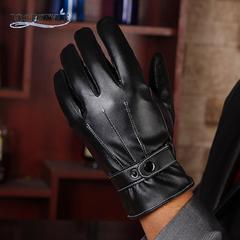 手袋 メンズ 革手袋 レザーグローブ スマホ手袋 ブラック