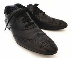 正規ルイヴィトンメンズシューズ靴28.5cmビジネスシューズ10ブラック黒LVレザービトン