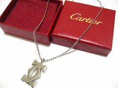 Cartier.カルティエ.世界最高マストのBIGダブルCトップ.ネックレス.未使用レベル