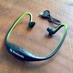 Bluetooth 4.0 ヘッドホン イヤフォン イヤホン スポーツ 緑