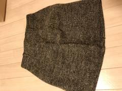 冬素材の台形スカート