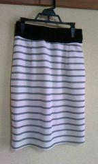 ag白&黒ボーダースカートS