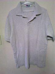 FILA★シンプルポロシャツ★ライトグレー★Lサイズ位★半袖