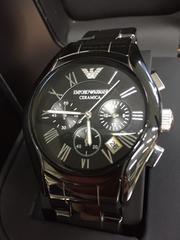 新品 エンポリオ アルマーニ 腕時計 クロノ AR1400 セラミカ