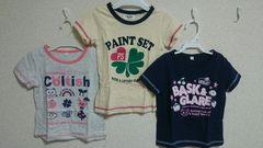 キッズ女の子*Tシャツ3枚セット110
