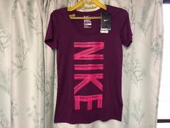 新品未使用ナイキNIKE紫色パープル半袖Tシャツドライフィット