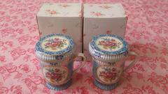 新品/ROYAL ARDEN/ハーブマグカップ/フタ付、茶こし付/薔薇/B