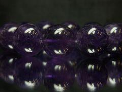 希少!!!大玉18ミリ/天然アメジスト数珠ブレスレット 開運天然石