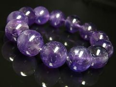 天然アメジスト ブレスレット 大玉16ミリ 天然石数珠 商売繁盛パワー