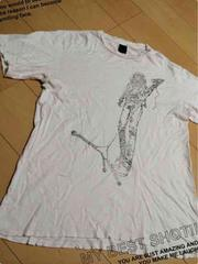 ナンバーナイン/穴あきプリントTシャツ/白/SIZE3/men's