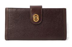 正規美品ブルガリ長財布ドッピオトンドブラウン茶色