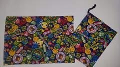 66 ◆ 給食袋setランチョンマット&巾着 2点セット ハンドメイド