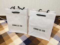 美品コムサイズム紙袋ショップ袋ショッパー2枚まとめセット