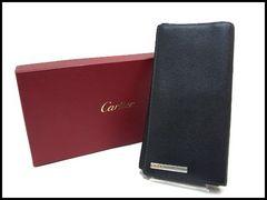 Cartier カルティエ サントス メンズ 長財布 小銭入れ付 黒