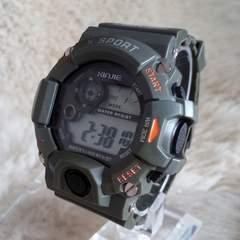 【送料無料】タフ型デジタル腕時計★日本語説明書★日常防水G