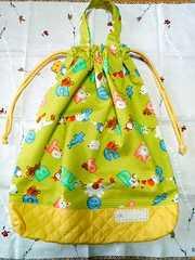 ハンドメイド可愛いアニマルプリントお着替え袋