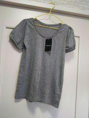 S新品タグ付き★パフスリーブ半袖Tシャツ  カットソー グレー