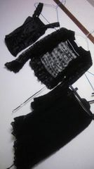 OZOC カーディガン スカート キャミ 3点セット