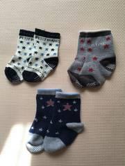 星柄靴下☆9-14センチ3足セット☆美品