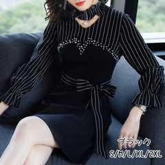 ワンピースAラインワンピース優雅女性らしい 気品いい18wq021