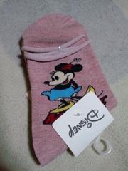 新品靴下くつ下23�p〜25�pミニーマウスディズニー