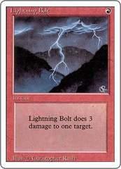 ●MTG 3ED 稲妻/Lightning Bolt 英語 4枚●
