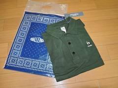 新品チャレンジャーCHALLENGERポロシャツS緑パンダ鹿の子