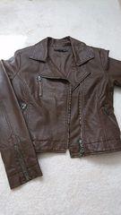 heather/ライダースジャケット/ブラウン/サイズ2