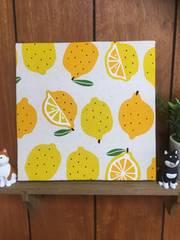 レモン☆木製ファブリックパネル♪♪
