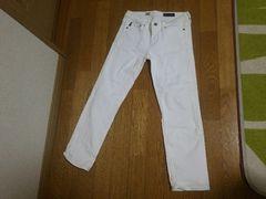 中古訳あり AG エージー 白 デニム ホワイトパンツ 24 Xs ズボン