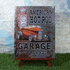 新品【ブリキ看板】Hot Rod/ホットロッド Garage