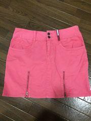トミーガール tommy jeans ピンクデニムスカート ヒップロゴ