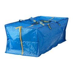 新品IKEAトロリー用バッグ イケア ファスナー付きブルーバッグ