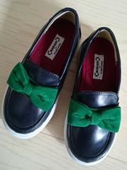 17cm★MARQUI★リボンローファースニーカー★ネイビー★女の子靴★新品★