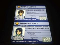 ガンダム非売品身分証カード2種セットSランク