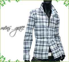 新品 リネンシャツ 長袖シャツ 麻混 メンズ チェック LL XL