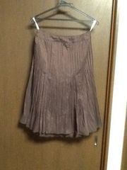 ジェラルドダレル  裾レースプリーツフレアースカート
