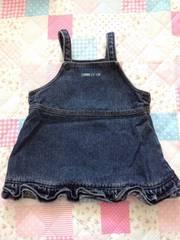 コムサ ジャンパースカート 80cm 女の子 デニム