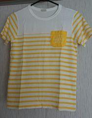 ムージョンジョン☆ボーダーのTシャツ☆size140日本製