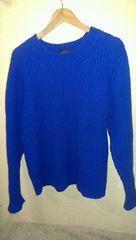 UNUSED クルーネックニットセーター ローゲージ 3 厚手