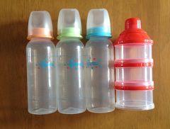 哺乳瓶&ミルク入れセット