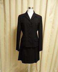 ◇LYNN HOLLYN 黒 スーツ ジャケット+スカートセット 38サイズ