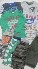 長袖Tシャツ110×5枚 ズボン×4 保育園幼稚園