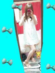 お家リラックス着☆清楚純白裏地テロンサテンの天使みたいなワンピース(^з^)-☆